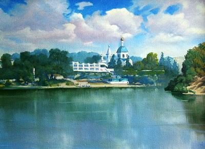 Вид на станицу Вешенскую, Александр Щебуняев