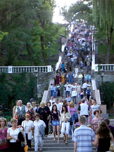 Каменная лестница Таганрога (Депальдовская лестница), фото Веры Волошиновой