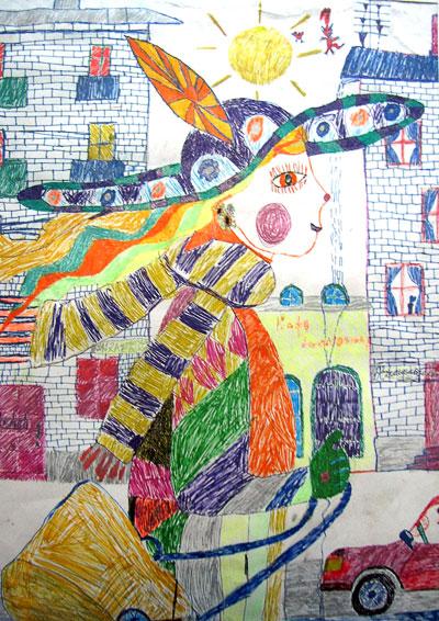 Маргарита Котлярова, Катя идет по городу,  9 лет,  г. Ростов-на-Дону
