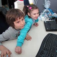 Ребята из Мультимедиа студии Ростовского Дворца творчества детей и молодежи
