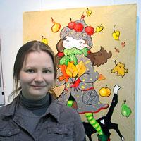 Ирина Чекалина на открытие своей выставке, Ростов-на-Дону