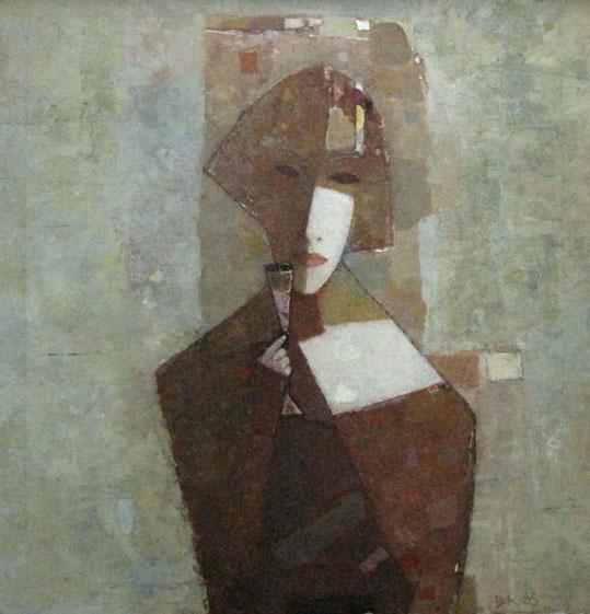 Вера с рюмкой Владимир Карначев,  выставка Владимира Карначева в Ростове-на-Дону, 2011
