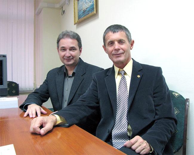 Михаил Игоревич Карякин, кандидат, доцент, декан мехмата ЮФУ и профессор Владимир Хаханов