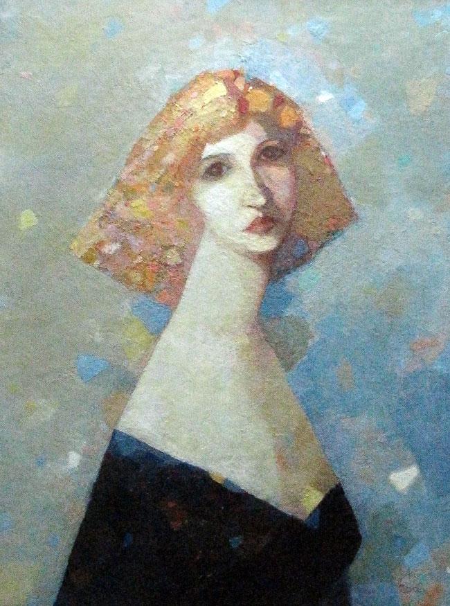 Лена Левина,  выставка Владимира Карначева в Ростове-на-Дону, 2011