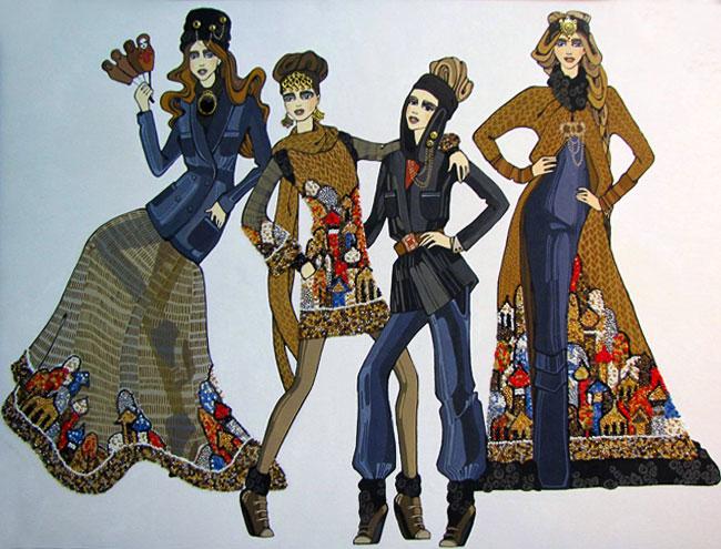эскиз Любовь Анкудиновой, IV Международная выставка эскизной графики и модной иллюстрации в Ростовской детской картинной галерее