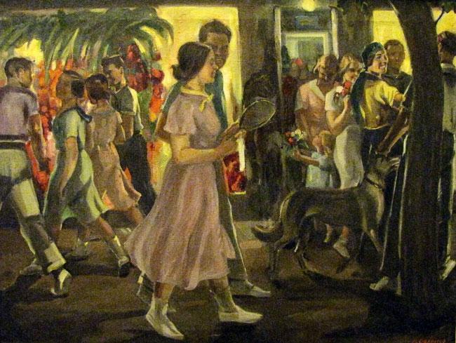 Аким Ованесов Ростов вечером 1937 гг., выставка в РОМИИ, Ростов-на-Дону