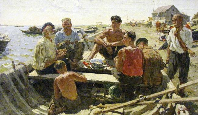 Борис Спорыхин Рыбаки Дона 1959-1960 гг., выставка в РОМИИ, Ростов-на-Дону