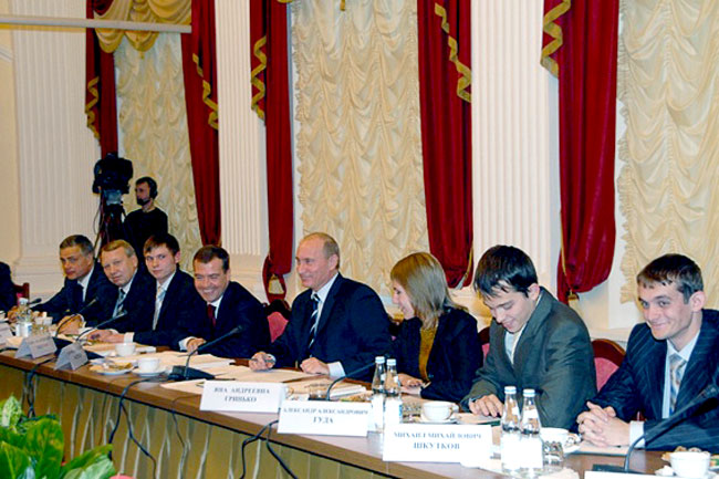 Александр Гуда и первые лица государства в Сибирском федеральном университете