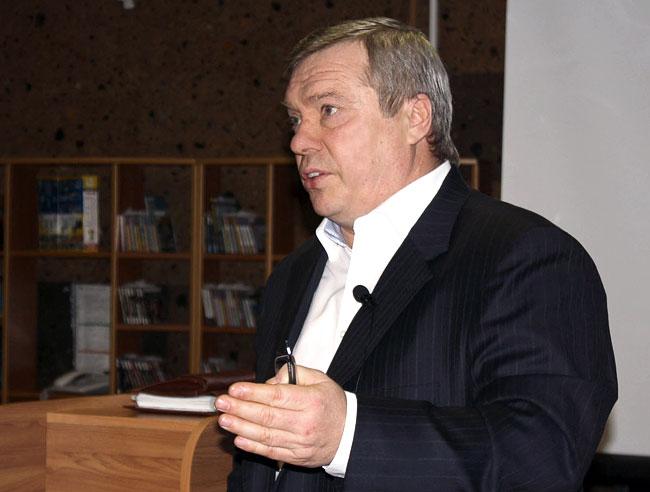 Губернатор Василий Голубев на встрече с блогерами в ДГПБ