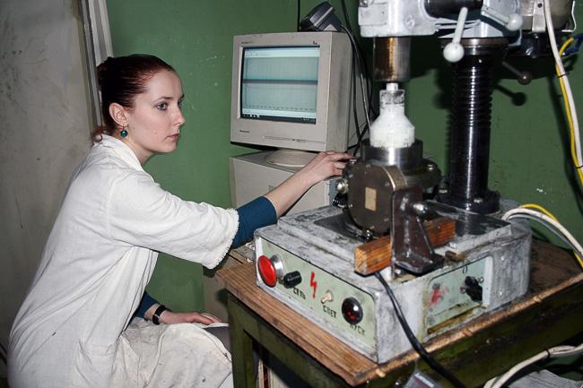 Анна Калиыкова, инженер лаборатории смазочных и антифрикционных покрытий НИИФОХ ЮФУ