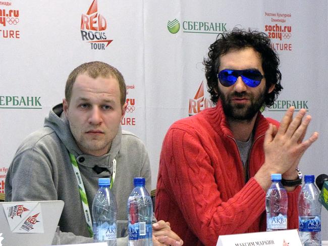 Ярослав Малый (группа «Мачете») на пресс-конференции