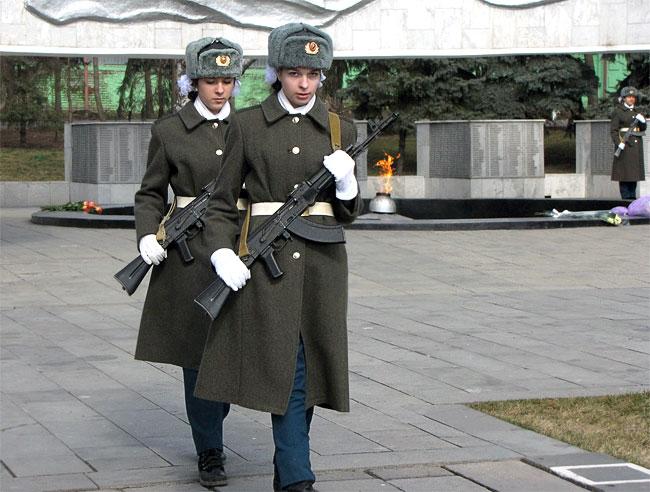 Пость у вечного огня в Ростове-на-Дону