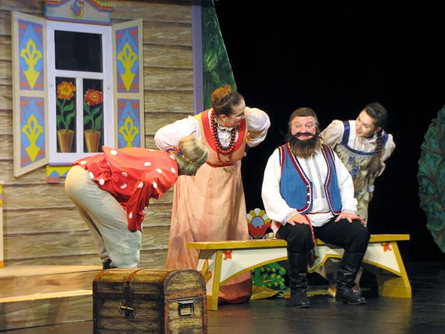 Александр Черенков (купец),  Светлана Несветова (купчиха ), Марина Дрень (дочка) и Александр Воскресенский (Иван)