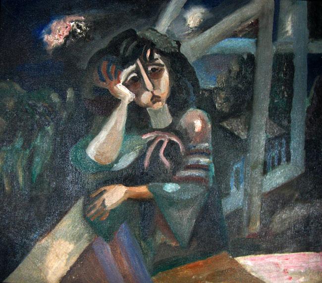 Борис Кочейшвили. Портрет Лии Ахеджаковой 1973 г