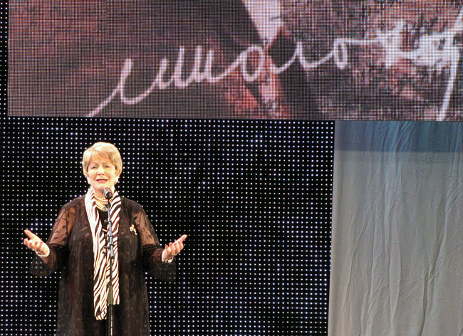 Людмила Хитяева на вечере памяти Шолохова