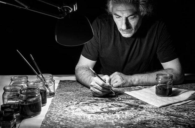 Итальянский художник Энцо Розамилья