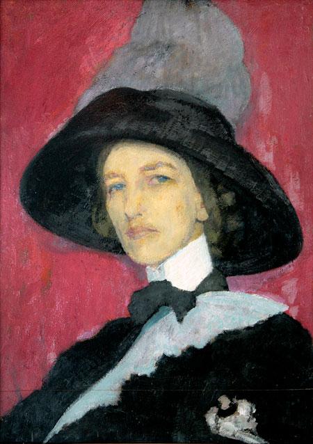 Автопортрет. Кругликова. 1910 г.
