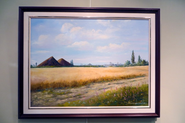 картина донецкого художника Юрия Данилова Хлеб Донбасса