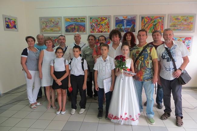 Ростовская гимназия № 35, участники открытия двух персональных выставок
