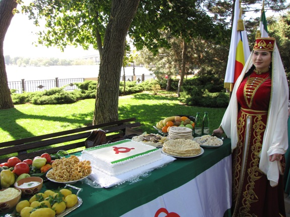 чеченский стол на празднике