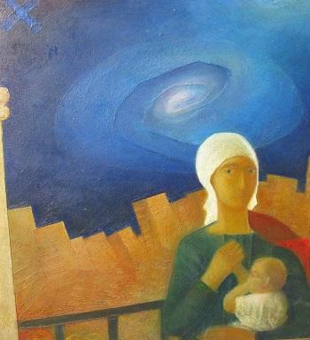 """картина Алексея Шагинова из цикла """"Мадонны"""""""