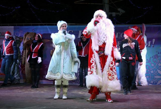Дед и Снегурка