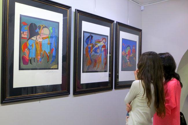 на выставке Шемякина
