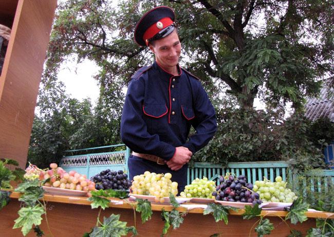 виноград и казачок