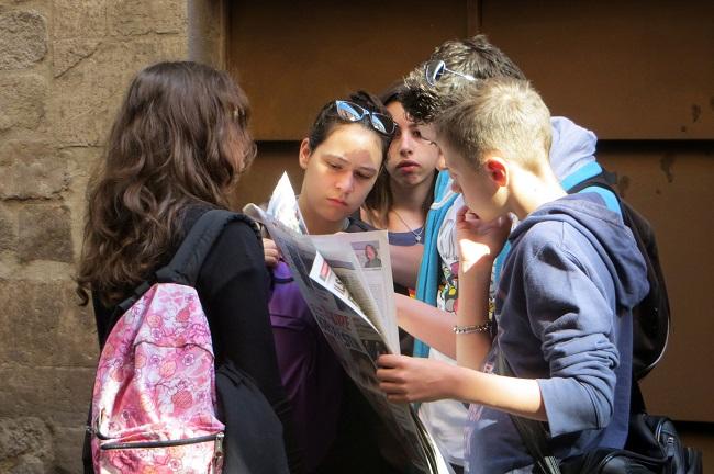 Барселонские школьники
