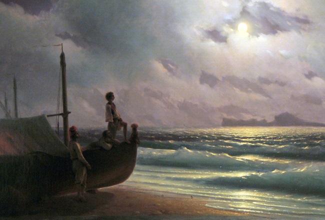 Айвазовский И.К. Лунная ночь 1848г.  холст, масло-1 — копия