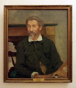 Портрет Репина - работа сына