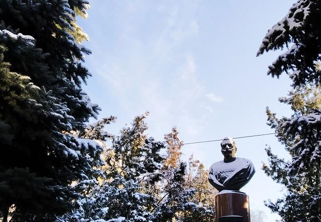 и Семен Михайлович со снегом на усах