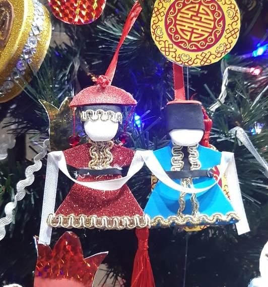 куклы в калмыцких костюмах