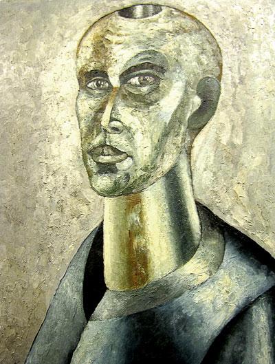 Вадим Махницкий автопортрет, выставка в Ростовском музее современного искусства на Дмитровской