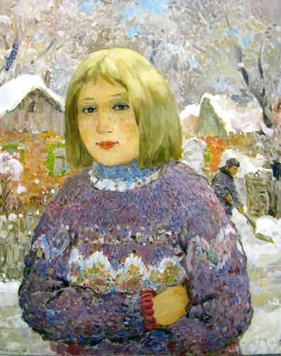 Борис Мовсесян 'Портрет девочки', Рождественская выставка- 2009 в галереи 'М', Ростов-на-Дону