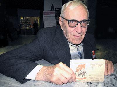 Фронтовик Владимир Иванович Ольшанский, фото Веры Волошиновой