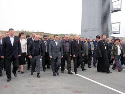 На открытие нового моста в Казанской, Ростовская область, фото Веры Волошиновой