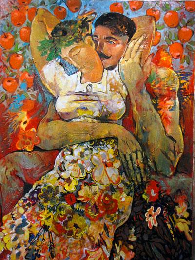 Григорий и Аксинья, картина Максима Ильинова