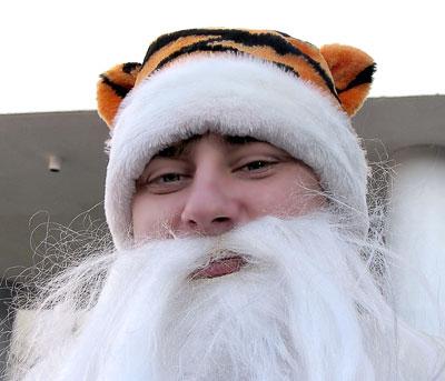 Парад Дедов Морозов на Фонтанной площади в Ростове, 2009 год, фото Веры Волошиновой