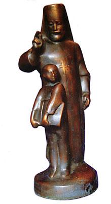 Святитель Дмитрий Ростовский, работа скульптора Ариадны Александровой-Санамянц
