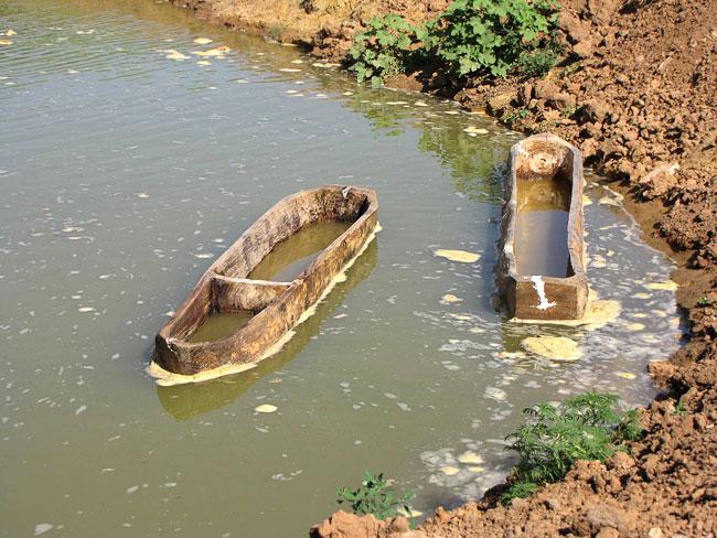Лодки на воде, пилотный проект Донского археологического общества Затерянный мир, Усть-Донецкий район, фото Веры Волошиновой