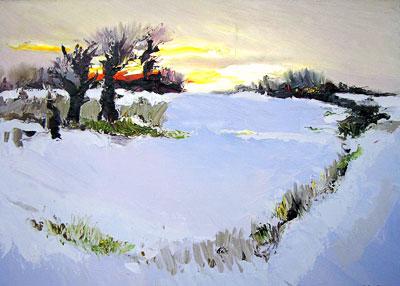 Калуст Мовсесян 'Зима', Рождественская выставка- 2009 в галереи 'М', Ростов-на-Дону