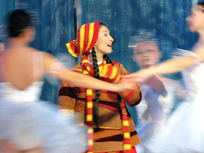 Татьяна Климова (Марушка ), новогодняя постановка 2009 '12 месяцев' в Ростовском музыкальном театре, фото Веры Волошиновой