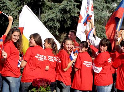 Молодежь Мясниковского района на праздновании появления первых поселений армян на Дону в селе Чалтырь, 2009 год, фото Веры Волошиновой