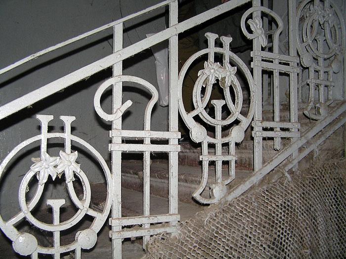 Семашко 46, лестничное ограждение, Ростов-на-Дону, фото Веры Волошиновой
