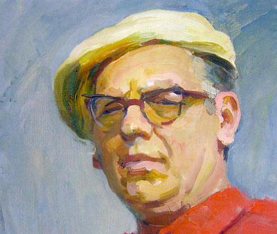 Семен Слепцов, автопортрет художника 1976 года