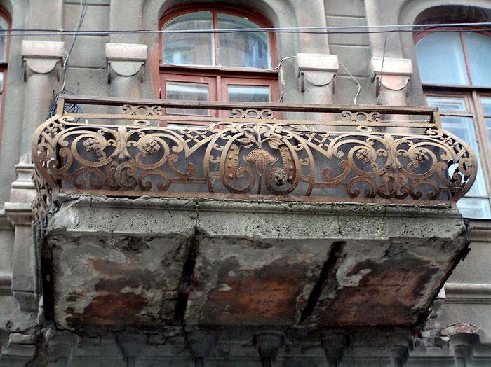 Темерницкая 33, балконная решетка, Ростов-на-Дону