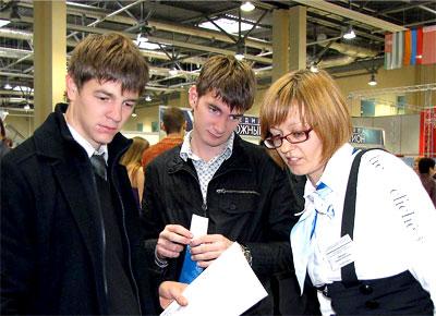 На наличие предпринимательских способностей тестировали и на IХ Международном экономическом форуме, фото Веры Волошиновой