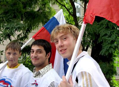 Открытие выставки 'Флаги над Доном' в Ростовском областном музее краеведения, фото Веры Волошиновой