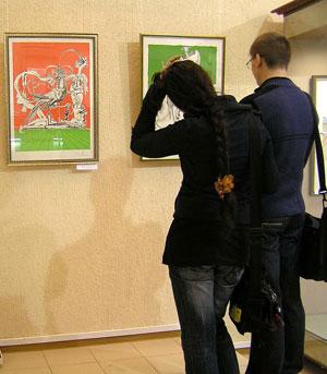 На выставке  'Шедевры Сальвадора Дали' фото Веры Волошиновой